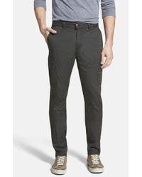 Jeremiah - Black 'ellison' Peached Cotton Cargo Pants for Men - Lyst