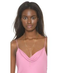 Gorjana | Metallic Nina Layered Lariat Necklace | Lyst