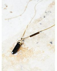Free People | Black Samantha Wills Womens Mineral Pendant | Lyst