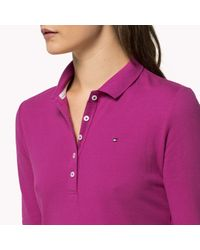 Tommy Hilfiger | Purple Cotton Long Sleeve Polo | Lyst