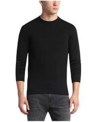 BOSS Orange - Black Sweater In Cotton Blend: 'agheos' for Men - Lyst