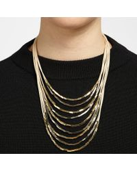 John Lewis - Cord Metallic Tube Necklace - Lyst