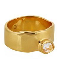 Monica Vinader | Metallic Siren Wide Band Topaz Ring | Lyst