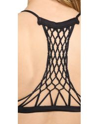 Mikoh Swimwear - Black Maui Racer Back Bikini Top - Fiji - Lyst