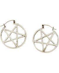 Pamela Love | Metallic Antique Silver Mini Pentagram Earrings | Lyst