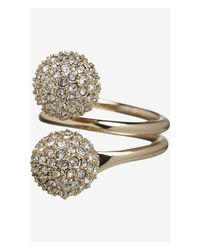 Express - Metallic Fireball Wrap Ring - Lyst
