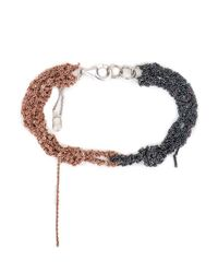 Arielle De Pinto | Black Siamese Bracelet In Rose Gold & Midnight Sterling Silver | Lyst