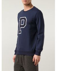 A.P.C. | Blue Printed Sweatshirt for Men | Lyst