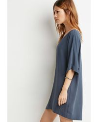 Forever 21 | Blue Dolman Shift Dress | Lyst