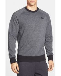 Nike | Gray 'aw77' French Terry Crewneck Sweater for Men | Lyst