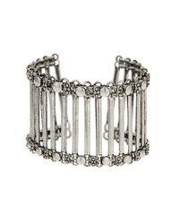 TOPSHOP | Metallic Freedom Found Linked Bar Bracelet | Lyst