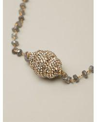 Roni Blanshay - Metallic Beaded Necklace - Lyst