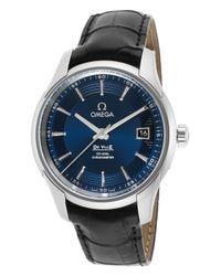 Omega   Men's Seamaster Planet Ocean Auto Titanium Blue Dial Titanium for Men   Lyst