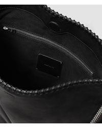 AllSaints - Black Fleur De Lis Chain Shoulder Bag - Lyst
