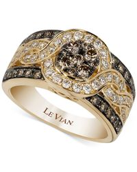 Le Vian | Metallic Chocolatier® Framed Cluster Diamond Ring (1-1/4 Ct. T.w.) In 14k Gold | Lyst
