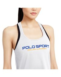 Pink Pony | White Jersey Graphic Racerback Tank | Lyst