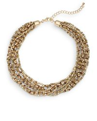 Saks Fifth Avenue | Metallic Multi-tone Beaded Collar Necklace | Lyst