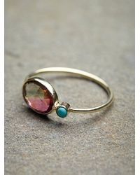 Free People | Metallic Watermelon Slice Ring | Lyst