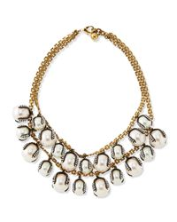 Lulu Frost | White Decade Simulated Pearl Statement Necklace | Lyst