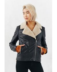 BB Dakota | Black Gabriel Sherpa Trim Jacket | Lyst