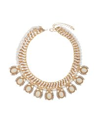 Mikey | White Eclipse Crystal Drops Rope Necklace | Lyst