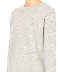 Vince - Gray Honeycomb Wool And Yak-Blend Sweater - Lyst