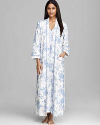 Carole Hochman - Blue Timeless Floral Long Robe - Lyst
