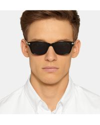 Eyevan 7285 - Black Square-Frame Acetate Sunglasses for Men - Lyst