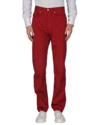 Valentino - Red Casual Pants for Men - Lyst