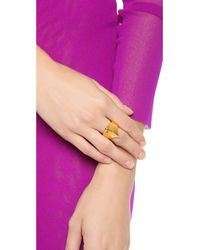 Eddie Borgo - Metallic Small Pharaoh Ring - Lyst