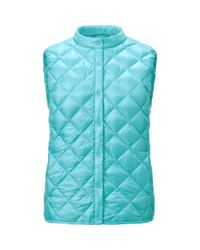 Uniqlo | Blue Women Ultra Light Down Compact Quilted Vest | Lyst
