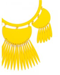 BaubleBar - Fluoro Tassel Dreamcatcher Bib-neon Yellow - Lyst