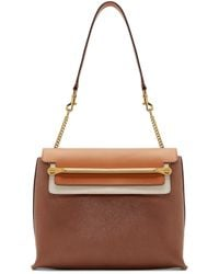 Chloé | Brown Leather Medium Clare Bag | Lyst