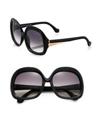 Balenciaga - Black Oversized Vintage Square Sunglasses - Lyst