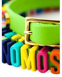 Moschino | Green Logo Plaque Bracelet | Lyst