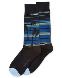 Tommy Bahama | Black Men's Palm Down Striped Crew Socks for Men | Lyst