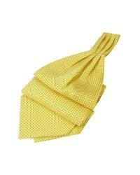 FORZIERI   Mini Polkadot Yellow Silk Ascot for Men   Lyst