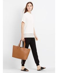 Vince | Brown East/West Leather Tote | Lyst