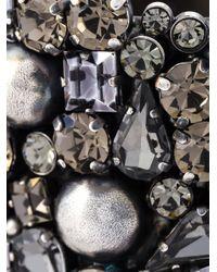 Alberta Ferretti | Metallic Crystal Cuff Bracelet | Lyst