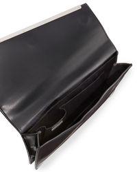 BCBGMAXAZRIA - Black Kensington Asymmetric Envelope Clutch Bag - Lyst