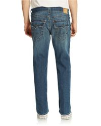 True Religion | Blue Ricky Relaxed Straight Jeans for Men | Lyst