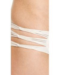 Mikoh Swimwear - Natural Velzyland Skinny String Bikini Bottoms - Bone - Lyst