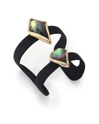 Alexis Bittar | Miss Havisham Black Mother-Of-Pearl Banded Cuff Bracelet | Lyst