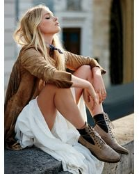 Free People - Brown Sounder Lace Up Boot - Lyst