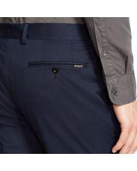 Ralph Lauren Black Label - Black Stretch Cotton Twill Pant for Men - Lyst