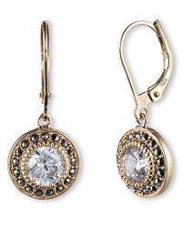 Judith Jack | Metallic 14k Gold And Swarovski Crystal Drop Earrings | Lyst