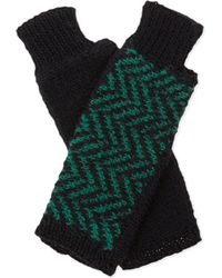 The North Circular | Green Furze Alpaca Fingerless Gloves | Lyst