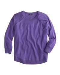 J.Crew - Purple Merino Swing Sweater - Lyst