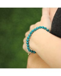 Sydney Evan | Blue Evil Eye Beaded Bracelet | Lyst
