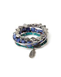 Forever 21 - Blue Beaded Bracelet And Bangle Set - Lyst
